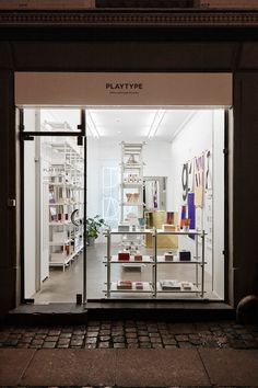 Stickssytem at the Playtype store in Copenhagen