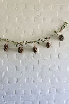 A GUIDE TO A SCANDINAVIAN CHRISTMAS- Salad Days, homemade pine cone garland