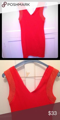 🌟HOST PICK! 🌟🎉 Like New Orange Bodycon Dress 🎉Host pick for Glam Style party on 12/13/16🎉LIKE NEW flattering fitted dress from boutique brand Ya Los Angeles! .::. Waffle knit with gold studded trim .::. Questions and offers welcome .::. Bundle & save even more! ✨ Ya Los Angeles Dresses