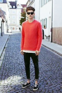 WE'VE BEEN WAITING FOR THE SUN (by Christoph Schaller) . Acne #Sweaters