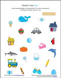 Preschool Week: Color Recognition Printable Packet