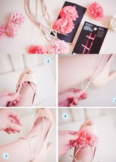 Flower up your shoes – DIY!