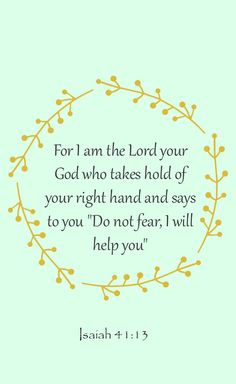 Trust God. He is in control.