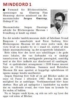 Mindeord 1: Jørgen Omstrup - www.thomasladegaard.dk
