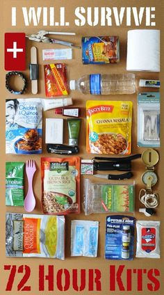 info on how to build your 72 hour kit like a pro!great info on how to build your 72 hour kit like a pro! 72 Hour Emergency Kit, 72 Hour Kits, Emergency Preparation, Earthquake Emergency Kit, Emergency Preparedness Food, Survival Food, Survival Prepping, Hurricane Preparedness Kit, Tornado Preparedness