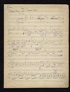 Ravel, Maurice, 1875-1937. Miroirs.  Oiseaux tristes : autograph manuscript, 1905?