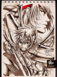 More sketches with Copic markers warm greys and Pentel brush pen   This time Cancer Manigoldo from Saint Seiya Lost Canvas. I hope you like it