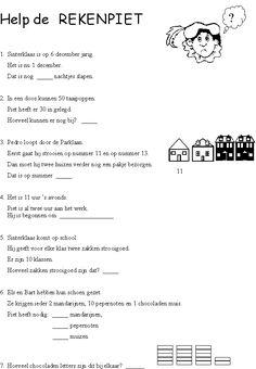 sinterklaas werkbladen - Google zoeken Learn Dutch, My Teacher, A Blessing, Primary School, Kids And Parenting, Mathematics, Circuit, Back To School, Activities For Kids