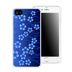 Blue Flowers Printed Cell Phone Case by CustomDecalz on Etsy
