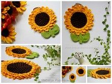 Topflappen 'Sonnenblume' - Hähelanleitung