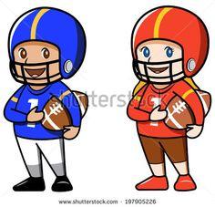 how to draw a cartoon football