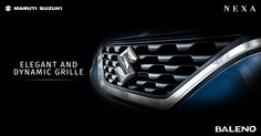 The front grille with accentuated chrome outshines all in a powerful display. #Baleno