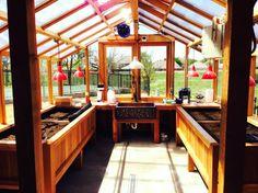 Cedar-Built Greenhouses- cedar greenhouse benches