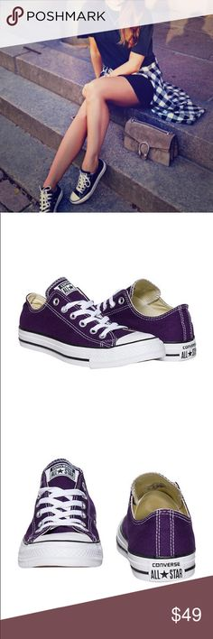 FLASH SALE NWT CONVERSE WOMENS EGGPLANT PURPLE Brand new 100% authentic in box converse. Price is firm ✨ WOMENS Converse Shoes Sneakers