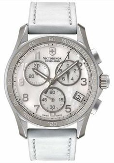 Swiss Army Ladies Chrono Classic - White Mother of Pearl - Date - Tachymeter Victorinox Swiss Army. $387.51. Save 40%!