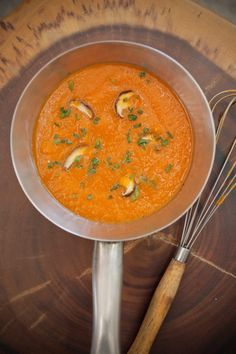 Carrot Soup with Ginger + Turmeric    This soup is packed with antioxidants and superfood goodness that will nourish your body from the inside out. It comes from my new book Perfect Digestive Health and you can feel the healing benefits as soon as you eat it. The quick cooking time allows for maximum nutrition and flavour so enjoy and be nourished.