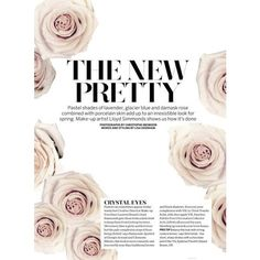 Hanna Verhees by Christophe Meimoon for Marie Claire UK March 2013 ❤ liked on Polyvore featuring text, words, backgrounds, magazine, phrase, quotes and saying