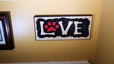 Love your Dog hand carved wall, office outdoor sign by MRWoodCrafting on Etsy