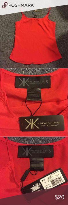 Kardashian kollection red tank Kardashian red tank. Size small Kardashian Kollection Tops Tank Tops