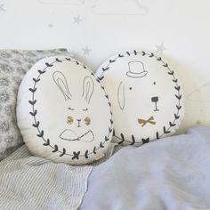 Soft padded portrait cushion