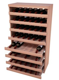 Vertical Pull Out Wine Bin - Wooden Wine Shelves