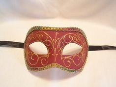 Venetian Masquerade Masks, Venice, Holidays, Red, Stuff To Buy, Beauty, Vacations, Holidays Events, Venetian Masks