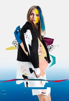"New collaboration with the australian fashion label Lifewithbird for ""Abstraction"" –  Summer 2015.I made an artistic interpretation of the collection through five artworks with the technique of collage."