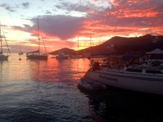 Sunrise, Isthmus Cove, Two Harbors, Catalina Island. Windrunner in foreground. Santa Catalina Island, Sailboat Living, Two Harbors, Water Into Wine, Screenwriting, Sunsets, Writers, Sailing, Sunrise