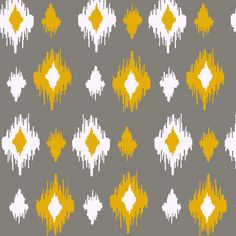 ikat- yellow fabric by lauredesigns on Spoonflower - custom fabric via Spoonflower