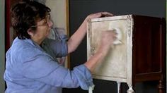 how to apply wax to chalk paint - YouTube