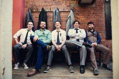 Upward angle for groomsmen