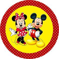 Mickey e Minnie – Kit Completo com molduras para convites, rótulos para guloseimas, lembrancinhas e imagens! | Fazendo a Minha Festa