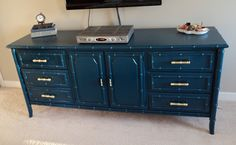 """Love the dark teal of this. Rustoleum """"Night Tide"""" high gloss spray. Can be color matched in latex."""