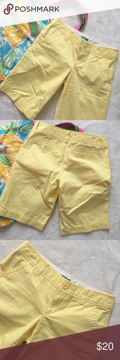 Lilly Pulitzer Lilly Pulitzer yellow shorts size 0. Lilly Pulitzer Shorts Bermudas