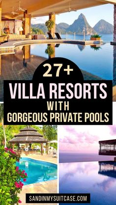 27  Villas With Gorgeous Private Pools. These ultra-gorgeous villas and resorts with private pools will blow you away! For that special holiday, check out these beautiful private pool suites in Mexico, Thailand, Bali, Costa Rica and elsewhere around the world. #privatepool #luxuryresort #luxuryhotel Places To Travel, Travel Destinations, Pool Sand, Hotels And Resorts, Luxury Hotels, Resort Villa, Beautiful Hotels, Travel Guides, Travel Tips