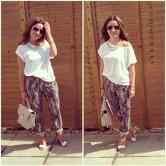 Missionstyleuk Sequin print pants..