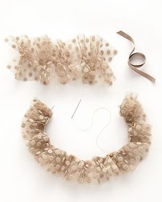 Tulle Dog Collar - Martha Stewart Weddings Planning & Tools