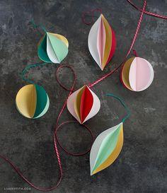 retro paper ornaments
