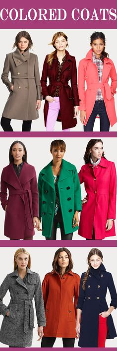 colored coats for winter