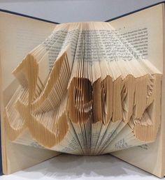 Handmade folded 3D book art for Kenny.