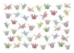 Tattoo design crane bird
