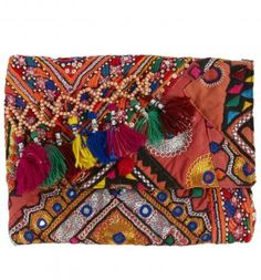 Simone Camille vintage textile clutch. Maybe could double as a fun iPad case.