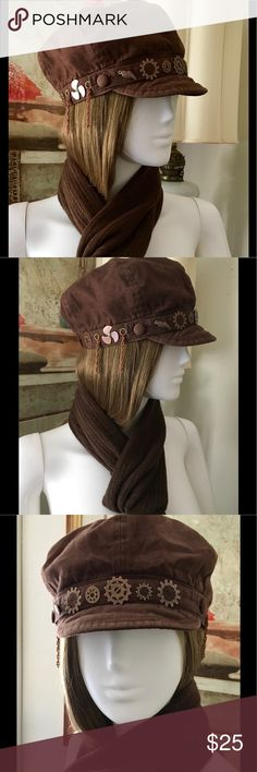 """WOMEN'S BROWN MILITARY CAP SZ S Military hat. Never worn. Measurements: Approx...20""""-20.5"""" Military Accessories Hats"""