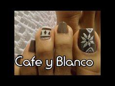 Uñas de pies lineas cruzadas y flores(Mexican)/Cute toe nail art - YouTube