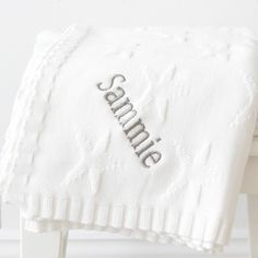 Personalised Star Jacquard Knit Blanket