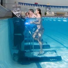 My local YMCA just got these HydroWorx UH20 Underwater Gym treadmills & they're incredible!! Zero impact on the body and the warm pool water isn't just therapeutic, it helps people who normally can't exercise get mobile again (some come in literally using walkers and canes & RUN on the treadmill). For many, this is a life changing piece of equipment.