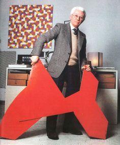 Bruno Munari, scultura pieghevole rossa, 1951