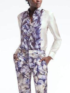 Piece & Co. Dillon-Fit Sun-Dyed Silk Shirt