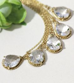 gorgeous crystal drop necklace