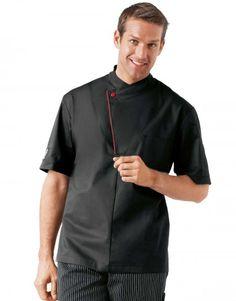 chef modelos diseños - Buscar con Google Sushi Chef, Black Shorts, Work Wear, Chef Jackets, Chefs, Short Sleeves, Men Casual, Mens Fashion, Chef Coats